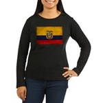 Ecuador Flag Women's Long Sleeve Dark T-Shirt