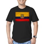 Ecuador Flag Men's Fitted T-Shirt (dark)