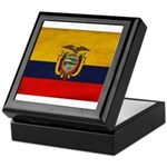 Ecuador Flag Keepsake Box