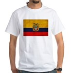 Ecuador Flag White T-Shirt