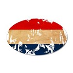 Netherlands Flag 22x14 Oval Wall Peel