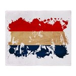 Netherlands Flag Throw Blanket