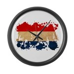Netherlands Flag Large Wall Clock
