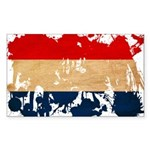 Netherlands Flag Sticker (Rectangle 10 pk)