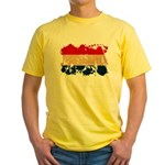 Netherlands Flag Yellow T-Shirt