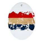 Netherlands Flag Ornament (Oval)