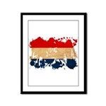 Netherlands Flag Framed Panel Print