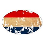 Netherlands Flag Sticker (Oval)