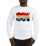 Netherlands Flag Long Sleeve T-Shirt