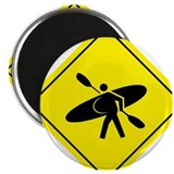 "Kayak Crossing - Whitewater 2.25"" Magnet (100 pack"