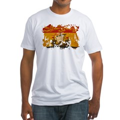 New Brunswick Flag Fitted T-Shirt