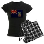Falkland Islands Flag Women's Dark Pajamas