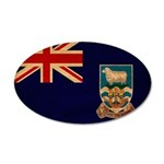 Falkland Islands Flag 38.5 x 24.5 Oval Wall Peel