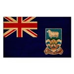 Falkland Islands Flag Sticker (Rectangle 50 pk)