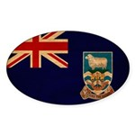 Falkland Islands Flag Sticker (Oval 10 pk)