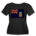 Falkland Islands Flag Women's Plus Size Scoop Neck
