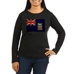 Falkland Islands Flag Women's Long Sleeve Dark T-S