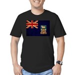 Falkland Islands Flag Men's Fitted T-Shirt (dark)