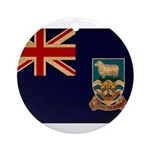 Falkland Islands Flag Ornament (Round)