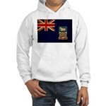 Falkland Islands Flag Hooded Sweatshirt