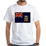 Falkland Islands Flag White T-Shirt