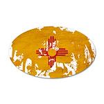 New Mexico Flag 22x14 Oval Wall Peel