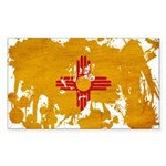 New Mexico Flag Sticker (Rectangle 10 pk)