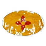New Mexico Flag Sticker (Oval 50 pk)