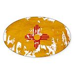 New Mexico Flag Sticker (Oval 10 pk)