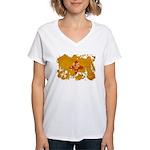 New Mexico Flag Women's V-Neck T-Shirt
