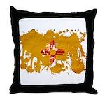 New Mexico Flag Throw Pillow