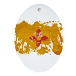 New Mexico Flag Ornament (Oval)