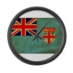 Fiji Flag Large Wall Clock