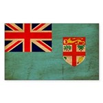 Fiji Flag Sticker (Rectangle 50 pk)