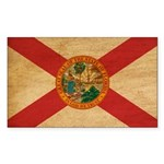 Florida Flag Sticker (Rectangle 10 pk)