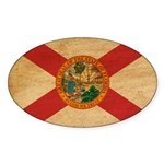 Florida Flag Sticker (Oval 10 pk)