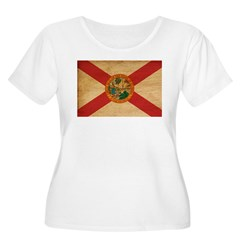 Florida Flag Women's Plus Size Scoop Neck T-Shirt