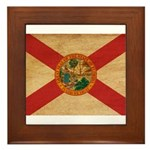 Florida Flag Framed Tile
