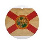 Florida Flag Ornament (Round)