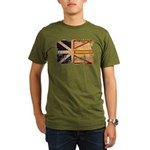 Newfoundland Flag Organic Men's T-Shirt (dark)