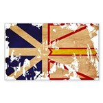 Newfoundland Flag Sticker (Rectangle 10 pk)