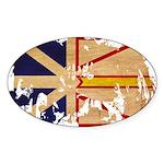 Newfoundland Flag Sticker (Oval 10 pk)