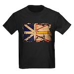 Newfoundland Flag Kids Dark T-Shirt