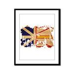 Newfoundland Flag Framed Panel Print