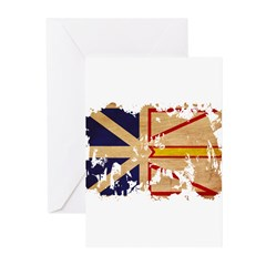 Newfoundland Flag Greeting Cards (Pk of 10)