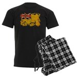 Niue Flag Men's Dark Pajamas