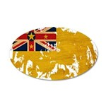 Niue Flag 38.5 x 24.5 Oval Wall Peel