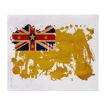 Niue Flag Throw Blanket