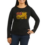 Niue Flag Women's Long Sleeve Dark T-Shirt