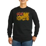 Niue Flag Long Sleeve Dark T-Shirt
